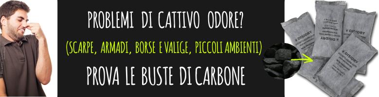carbone attivo assorbi odori