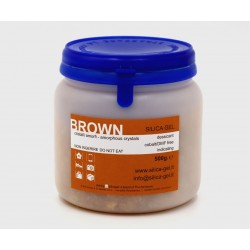 Indicating brown silica gel - 500 gr sealed can