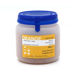 Orange silica gel in sfere - flacone 500 g