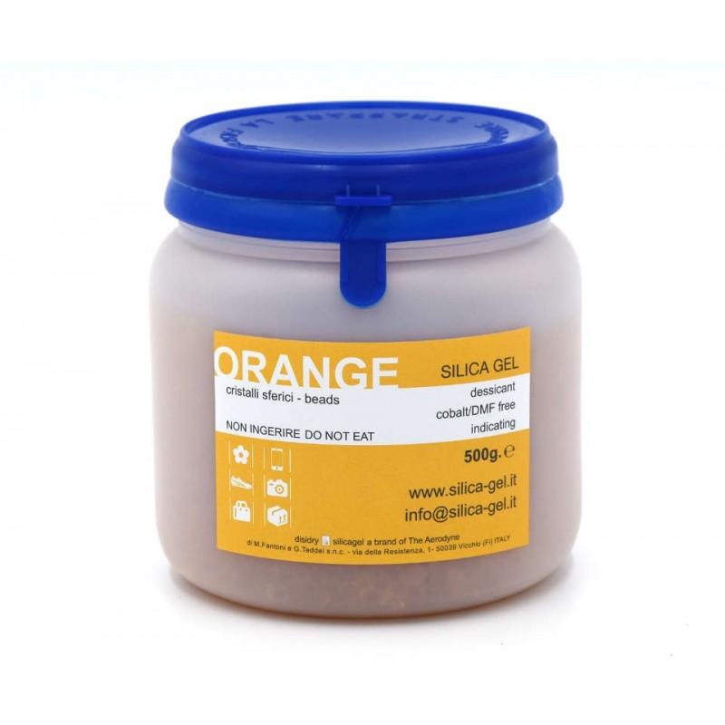 Indicating orange silica gel - 500 g. sealed can