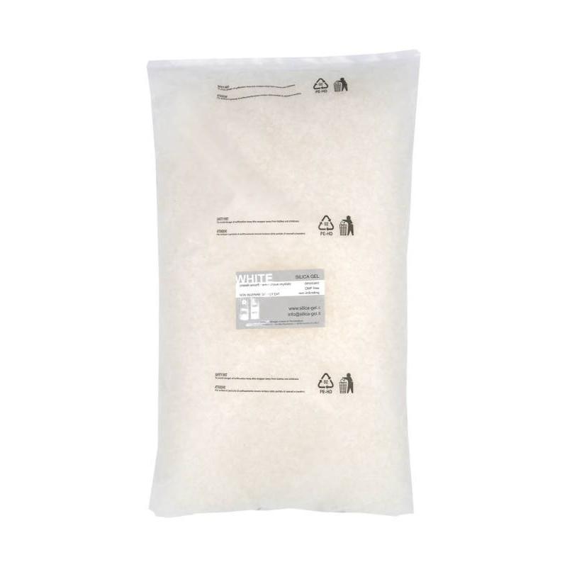 Silica gel bianco granulare - confezioni 5 Kg