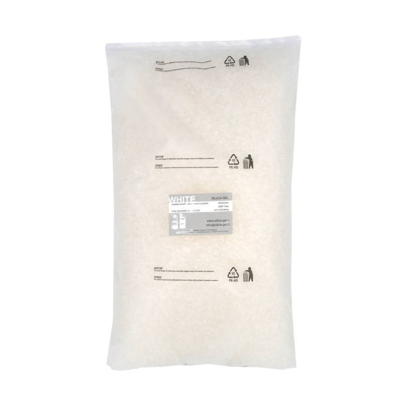 Granular white Silica Gel - bulk - 5 Kg package