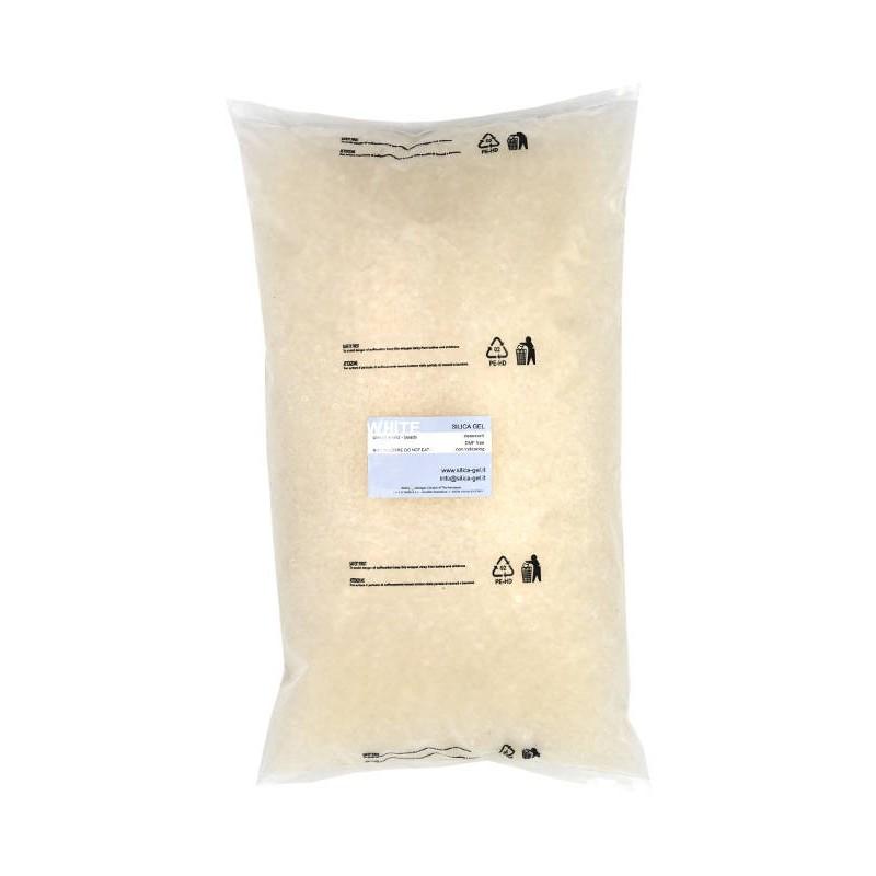 Beaded white Silica Gel - bulk - 5 Kg package