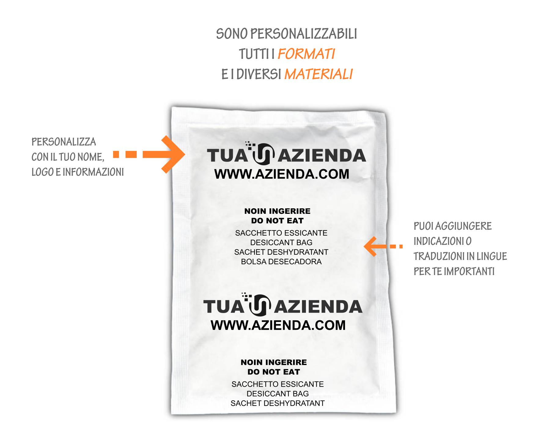 personalizza bustina silicagel